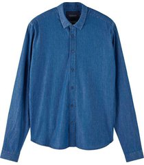 overhemd denim blauw