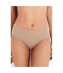 calcinha mondress lingerie básica com lateral dupla bege