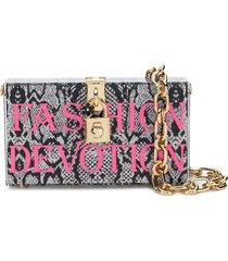 dolce & gabbana fashion devotion box clutch - black
