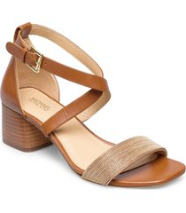 diane mid sandal med klack brun michael kors shoes