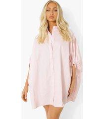 oversized blouse jurk met vleermuismouwen, pastel pink