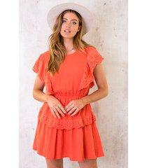 marant linnen dress orange