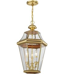 closeout! livex georgetown 3-light outdoor chain lantern