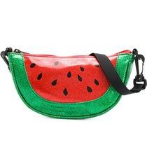molo kids bolsa de melancia com brilho - verde