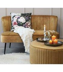 sofa na nóżkach welwetowa taupe