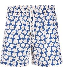 borrelli floral print swim shorts - white