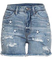 shorts di jeans con stelle ricamate (blu) - rainbow