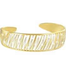 bracciale bangle small in ottone dorato e glitter per donna