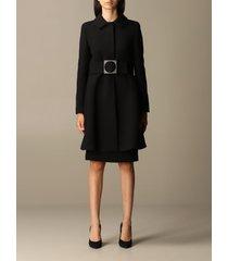 emporio armani coat emporio armani coat in virgin wool blend with belt