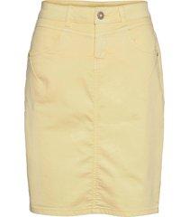 amaliecr skirt kort kjol gul cream