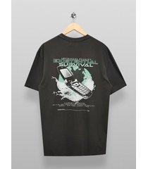mens retro phone t-shirt in black