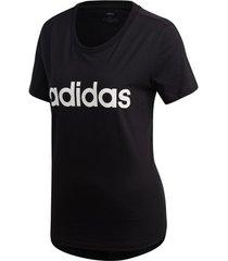 t-shirt korte mouw adidas essentials linear slim tee women
