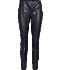 arleen trousers leather leggings/broek zwart twist & tango