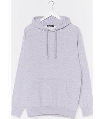 womens plus hoodie - grey