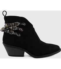 botin casual jane negro stylo shoes