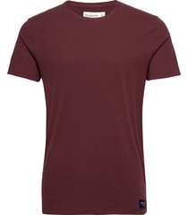 min-marketed crew t-shirts short-sleeved röd abercrombie & fitch