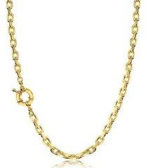 colar lys lazuli choker elos cadeado fecho boia banhado ouro 18k feminino - feminino