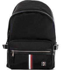 mens monogram plaque backpack