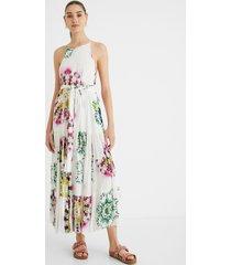 long kaleidoscopic dress - white - xl
