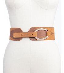 inc women's patchwork stretch belt, created for macy's