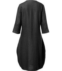 jurk met 3/4-mouwen van anna aura zwart