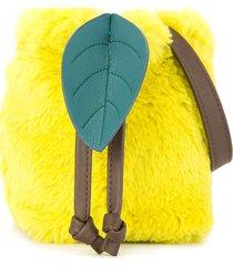 familiar faux-fur bucket bag - yellow