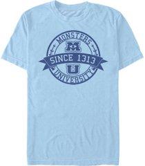 fifth sun men's monster university school short sleeve crew t-shirt