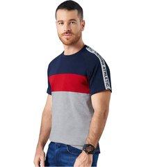 camiseta polo adulto masculino multicolor / rojo-azul-gris marketing  personal