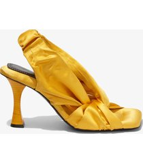 proenza schouler twisted scarf sandals zecchino gold 36