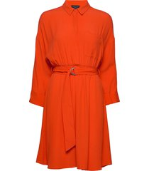 slfemery-vienna 7/8 short dress b jurk knielengte oranje selected femme