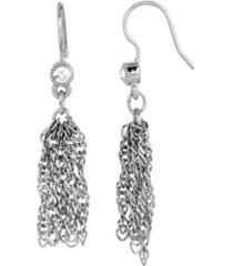 2028 women's silver tone tassel earring