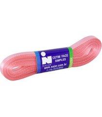 fita de cetim nº01 7mm peça com 10m rosa goiaba
