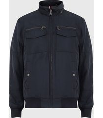 chaqueta tommy hilfiger azul - calce regular