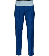 color block pant, 45 kostuumbroek formele broek blauw hilfiger collection