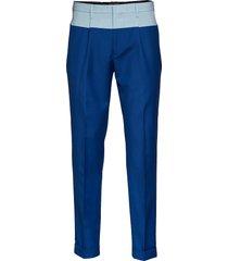 color block pant, 45 kostuumbroek formele broek blauw hilfiger collection