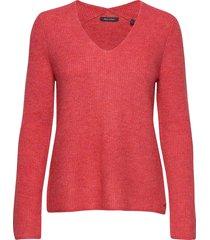 pullover, longsleeve, feminine v-ne stickad tröja rosa marc o'polo