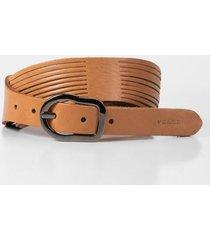 cinturón unifaz de cuero para mujer cortes