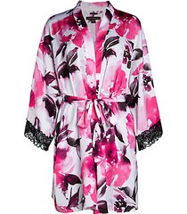 floral satin wrap robe