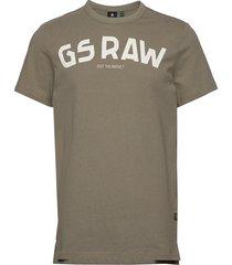 gsraw gr r t s\s t-shirts short-sleeved grön g-star raw