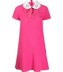 redvalentino peter pan collar dress - pink
