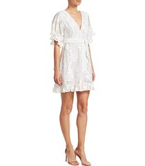 gabriela short sleeve burnout floral dress
