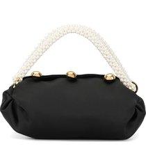 0711 small nino pearl-handle tote - black