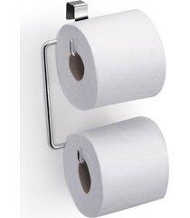 suporte para papel higiênico para caixa acoplada arthi em aço inox duplo