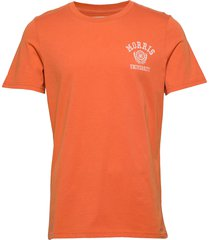 corby tee t-shirts short-sleeved orange morris