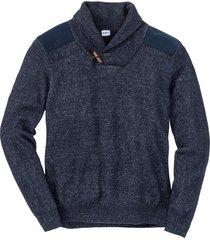 maglione con collo a scialle (blu) - john baner jeanswear