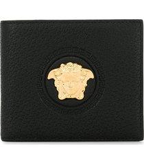 versace medusa head bifold wallet - black