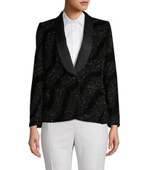 embellished shawl-collar blazer