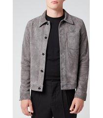 ami men's suede jacket - gris fonce - l/40