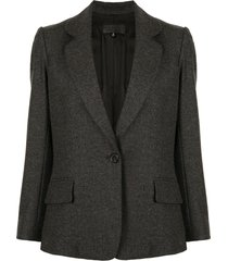 nili lotan elbow patches blazer - grey