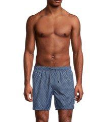 emporio armani men's chain-print boxer-style swim trunks - antique - size xs